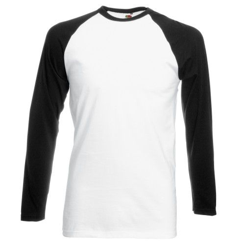 Fruit Of The Loom Herren Baseball T-Shirt, langärmlig