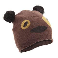 FLOSO Kinder Unisex Tier Design Winter Beanie Mütze (Tiger, Panda, Bär, Hund)