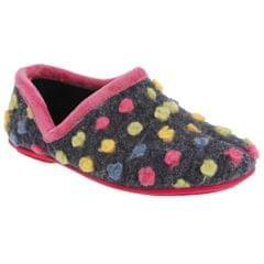 Sleepers Damen Jade Hausschuhe / Pantoffeln, gepunktet