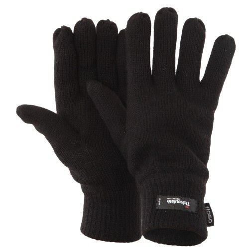 Floso Herren Thermo Strick-Handschuhe Thinsulate
