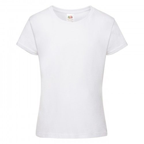 Fruit Of The Loom Mädchen Sofspun T-Shirt, Kurzarm, Rundhalsausschnitt