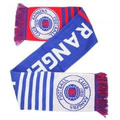 Strickschal / Fan-Schal mit Rangers FC Design