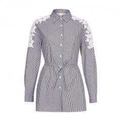 Yumi besticktes Damen-Hemdkleid