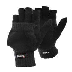Floso Herren Thermo Handschuhe mit Gekappten Fingern (3M 40g)