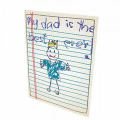 Heaven Sends My Dad Is The Best Ever Stoff Karte
