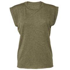 Bella + Canvas Damen Muscle-T-Shirt, gerollte Ärmel