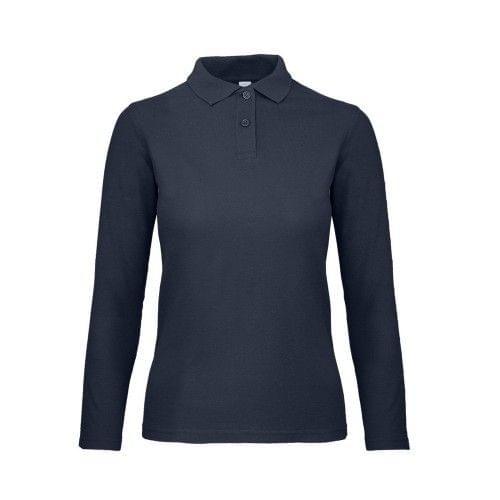 B&C ID.001 Damen Poloshirt, langärmlig