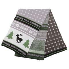 FLOSO - Écharpe tricotée à motif de Noël - Homme