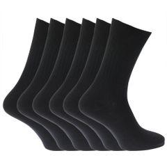 Chaussettes unies striées 100% coton (lot de 6 paires) - Homme