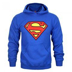 Superman Herren Schild Logo Kapuzenpullover