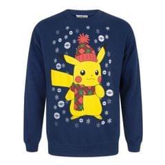 Pokemon Herren Pikachu-Weihnachtspullover