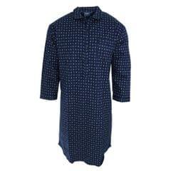 Harvey James Herren Nachthemd, langärmlig, gemustert