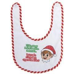 Christmas Shop - Bavoir à slogan de Noël