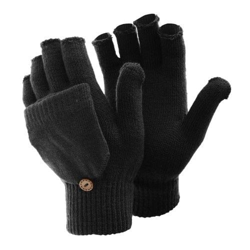 FLOSO Ladies/Womens Winter Capped Fingerless Magic Gloves