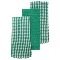 Thin Check Pattern Tea Towel/Dish Towel Set (Pack Of 3)