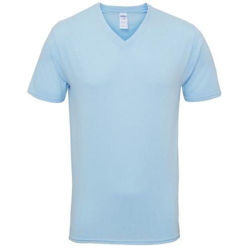 Gildan Mens Premium Cotton V Neck Short Sleeve T-Shirt