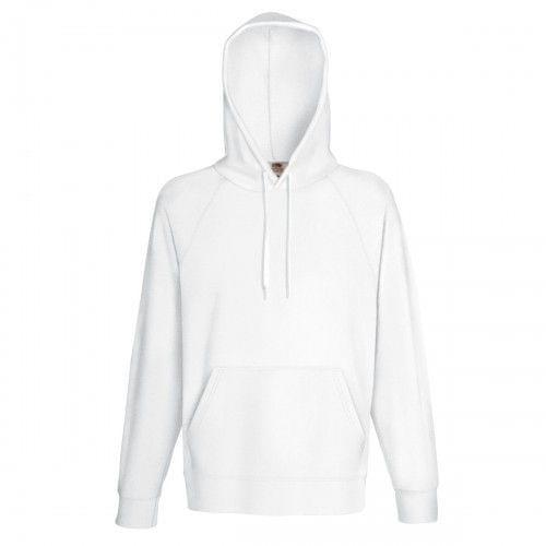 Fruit Of The Loom Mens Lightweight Hooded Sweatshirt / Hoodie (240 GSM)