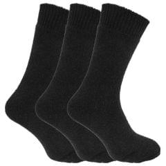 Mens Wool Blend Fully Cushioned Thermal Boot Socks (Pack Of 3)