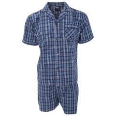 Mens Patterned Short Sleeve Shirt And Shorts Pajama/Nightwear Set