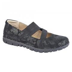 Boulevard Womens/Ladies EEE Wide Fit Elasticated Shoes