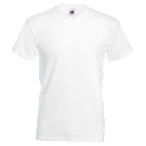 Fruit Of The Loom Mens Valueweight V-Neck T-Short Sleeve T-Shirt