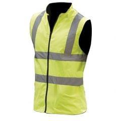 Yoko Mens Workwear Hi-Vis Reversible Fleece Vest / Jacket