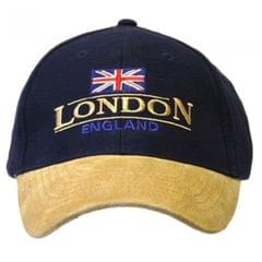 London England Baseball Cap Suede Cap with adjustable strap