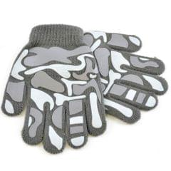 Childrens Little Boys Camo Design Winter Magic Gloves