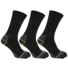 Mens Hard-Wearing Cotton Rich Work Socks (Pack Of 3)