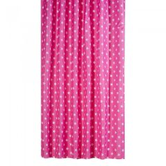 Waterline Hollywood Pink Star Shower Curtain With Rail Rings