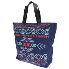 FLOSO Womens/Ladies Cotton Rich Aztec Print Top Handle Handbag