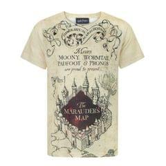 Harry Potter - T-shirt carte du maraudeur 'The Marauder's Map' - Garçon