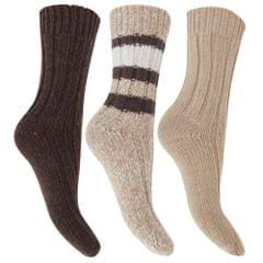 FLOSO Ladies/Womens Thermal Thick Chunky Wool Blended Socks (Pack Of 3)