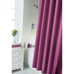 Plain Shower Curtain With Rail Rings