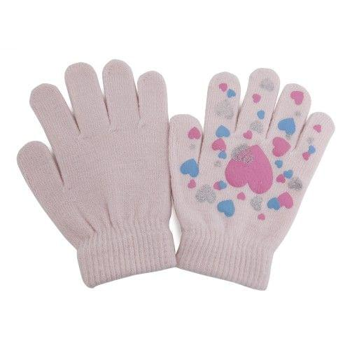 Big Girls Fun Winter Magic Gloves with Rubber Print