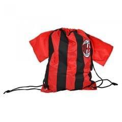 AC Milan Official Football Shirt Shaped Drawstring Gym Bag
