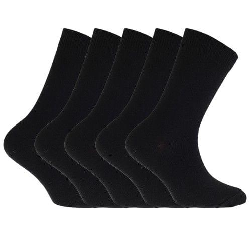FLOSO Childrens/Kids Plain Everyday Socks (Pack Of 5)
