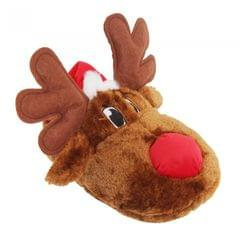 Adults Unisex Christmas Reindeer Design Novelty Slippers