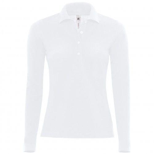 B&C Womens/Ladies Safran Long Sleeve Polo Shirt