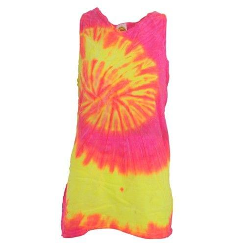 Colortone Womens/Ladies Sleeveless Tie-Dye Tank Top