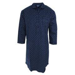 Harvey James Mens Patterned Long Sleeve Nightshirt