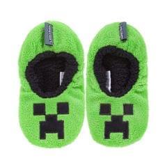 Minecraft Official Boys Creeper Slipper Socks