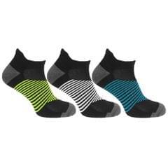Redtag Mens Sport Striped Trainer/Liner Socks (3 Pairs)