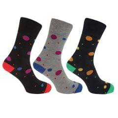 Womens/Ladies Non Elastic Color Spot Socks (Pack Of 3)