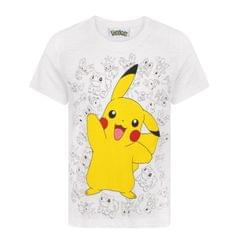 Pokemon Childrens Boys Pikachu Wave T-Shirt
