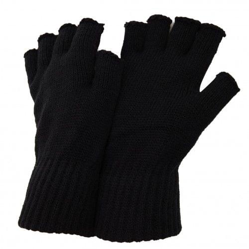 FLOSO Mens Winter Fingerless Gloves