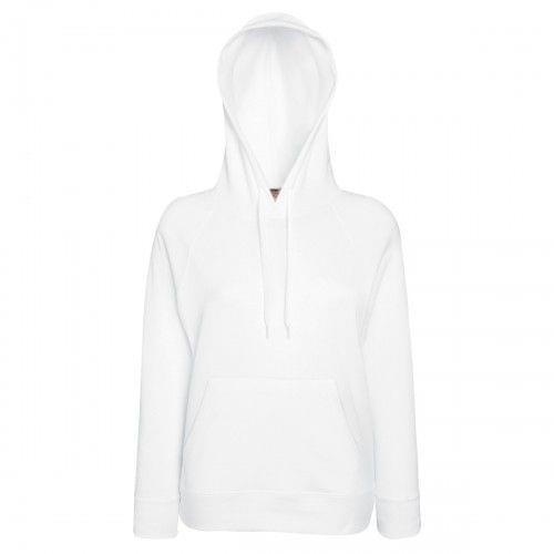 Fruit Of The Loom Ladies Fitted Lightweight Hooded Sweatshirt / Hoodie (240 GSM)