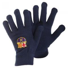 FC Barcelona Mens Official Core Winter Football Crest Gloves