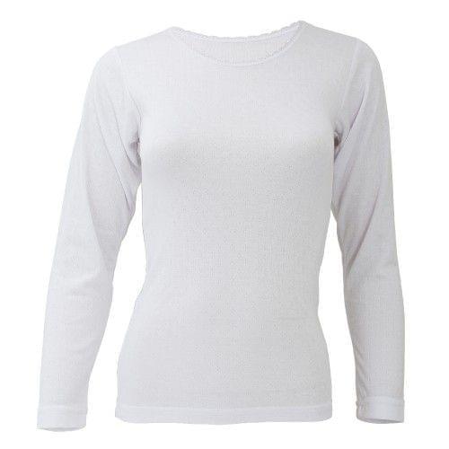 FLOSO Ladies/Womens Thermal Underwear Long Sleeve T-Shirt/Top
