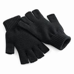 Beechfield Unisex Plain Basic Fingerless Winter Gloves